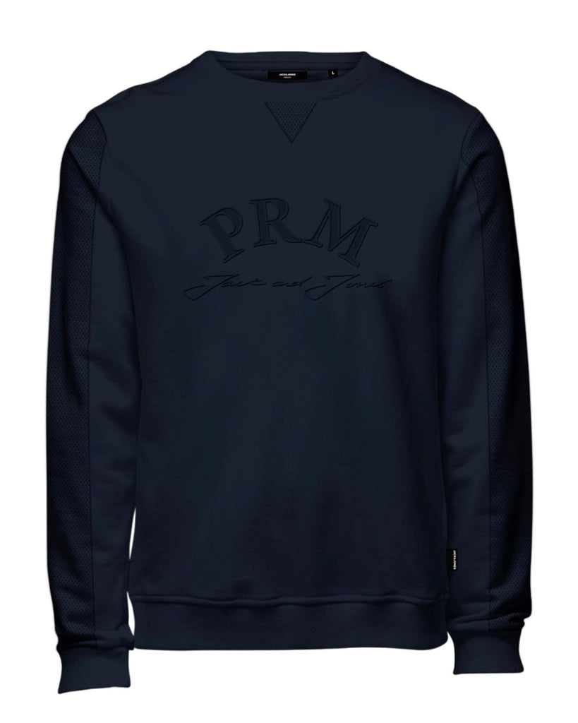 Burke Crew Neck Long Sleeve Navy Sweat