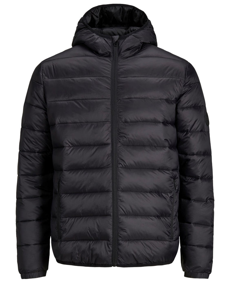 Junior Magic Black Hooded Puffer Jacket by Jack & Jones