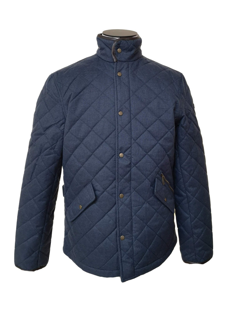 Mens Quilted Navy Jacket