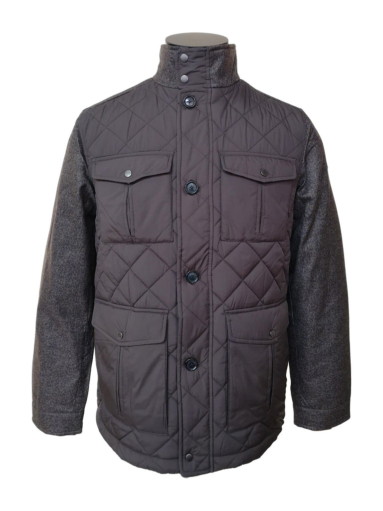 Mens Quilted Brown Jacket
