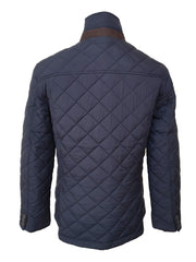 Mens Navy Quilted Jacket