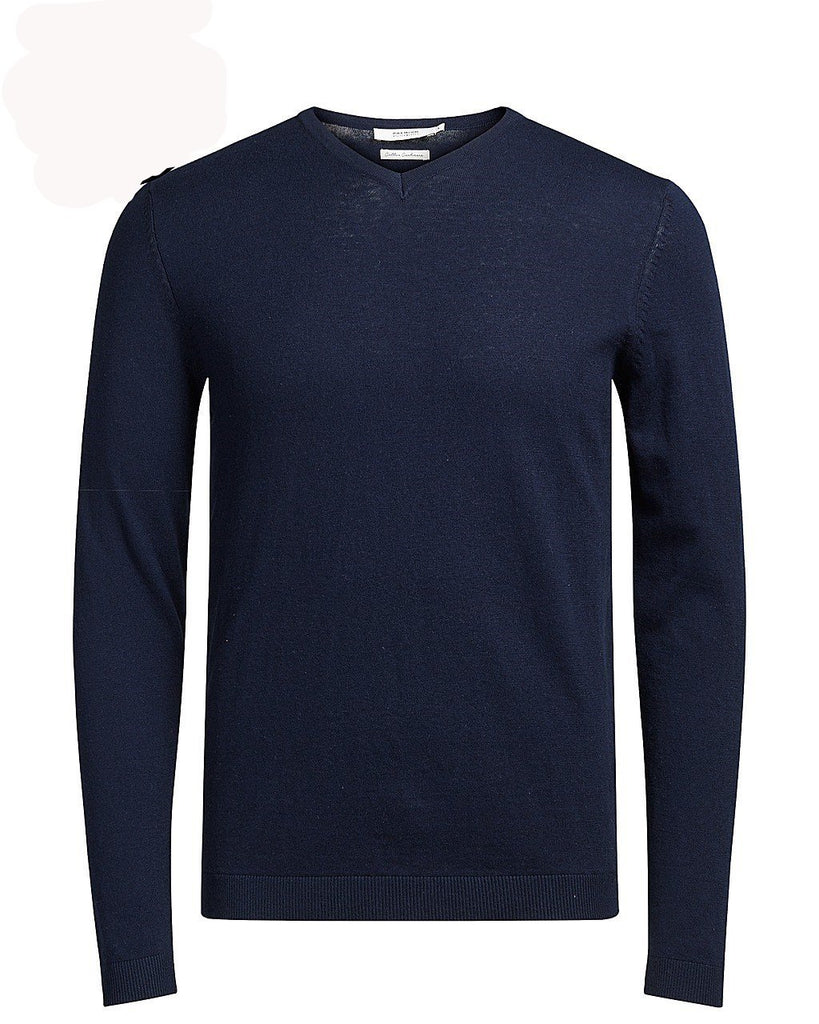 Premium Cashmere Luke V-Neck Knit