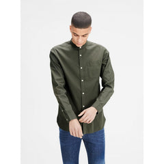 Kevin Mao Band Collar Shirt by Jack Jones Premium