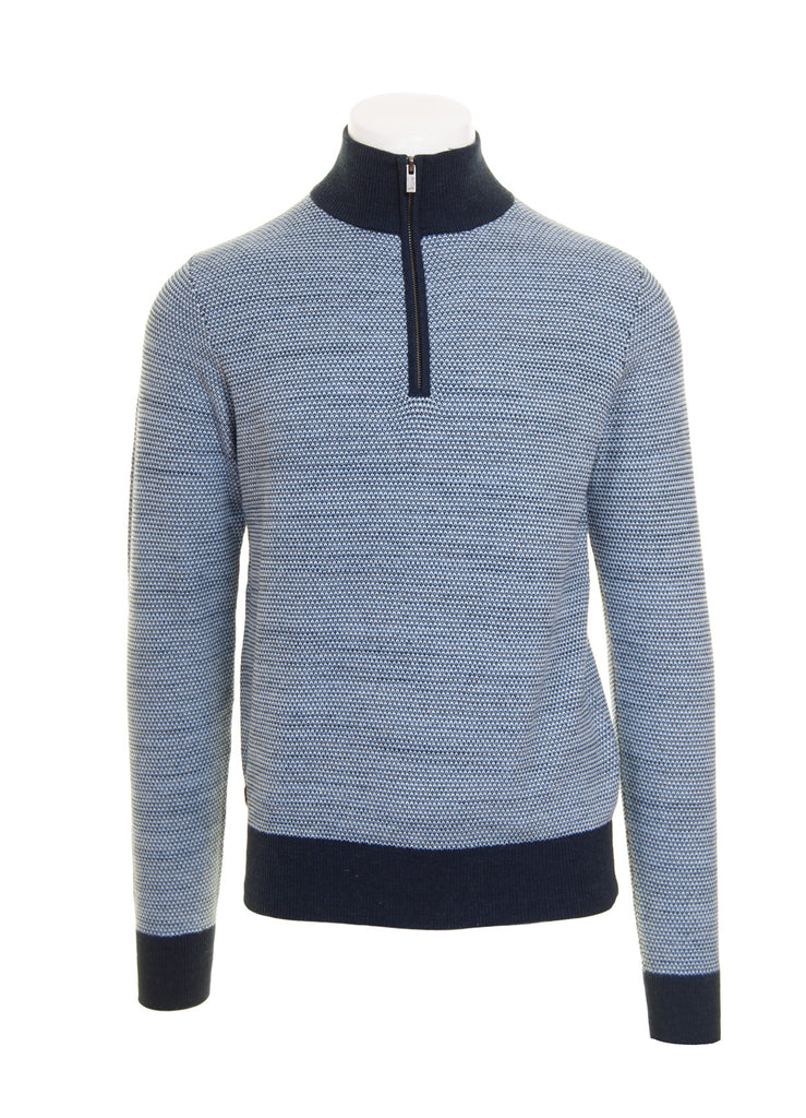 Navy Hyatt Half Zip Knit