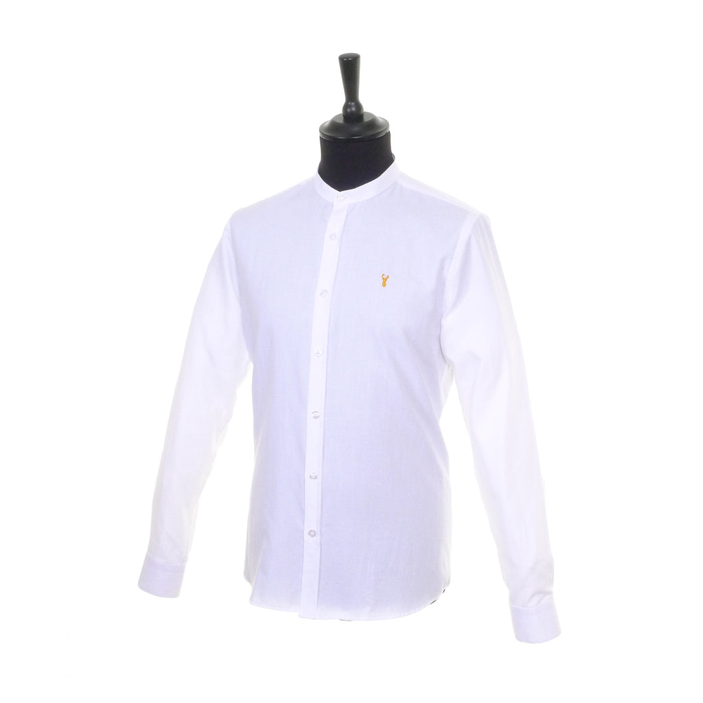 Grandad Collar Shirt by Tom Penn - Side
