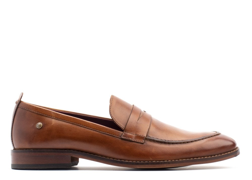 Lens Washed Tan Loafer by Base London