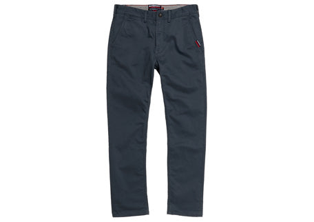 International petroleum blue straight chinos. M70013KT@DDO