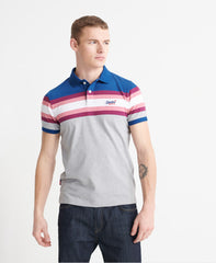 Organic Cotton Malibu Blue Stripe Polo Shirt