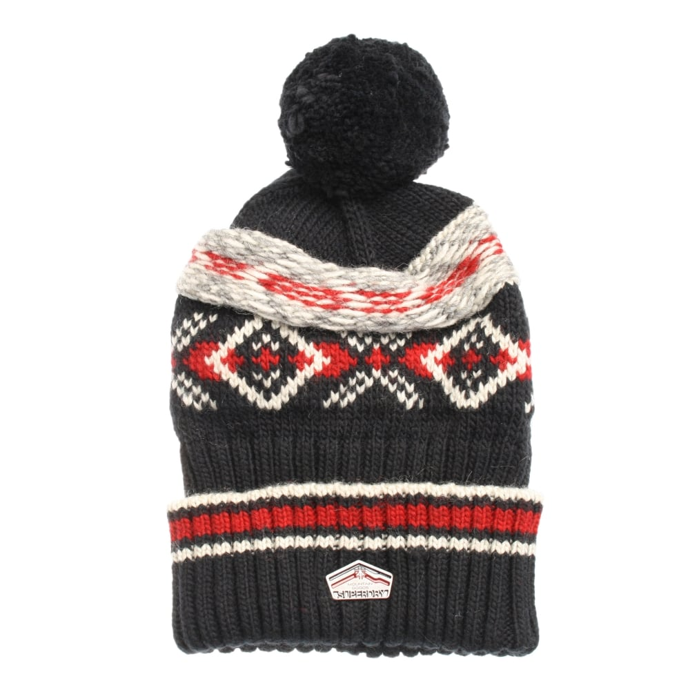 6df27bdeee3 M90003KN Dark Navy Malmo Fairisle Beanie by Superdry