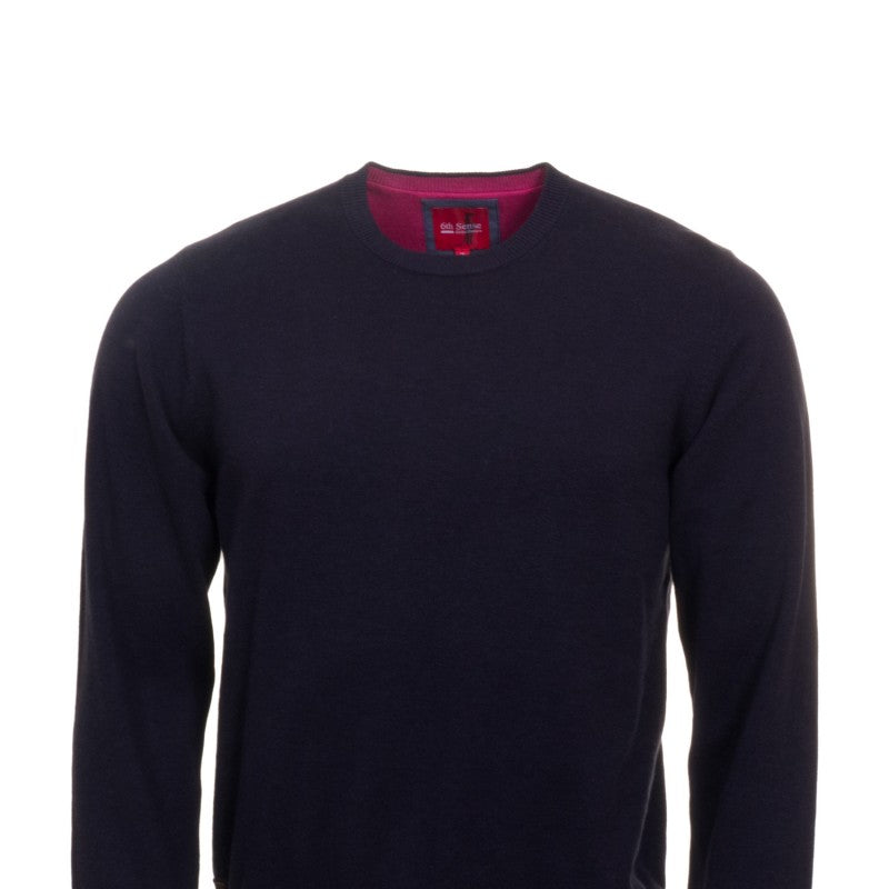 Million Dollar Crew Navy Knit by 6th Sense. Regular fit jumper
