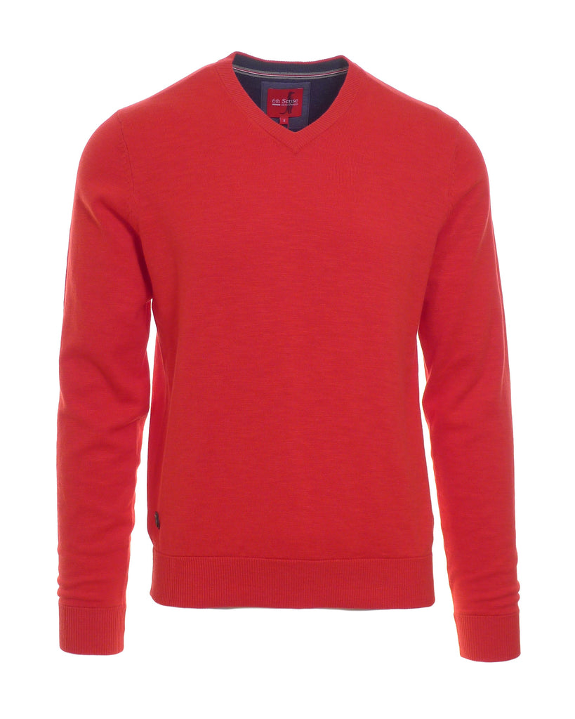 MDV True Red V Knit