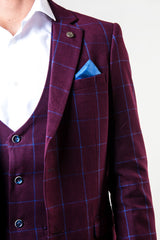 Magnum Check Wine Blazer By Marc Darcy
