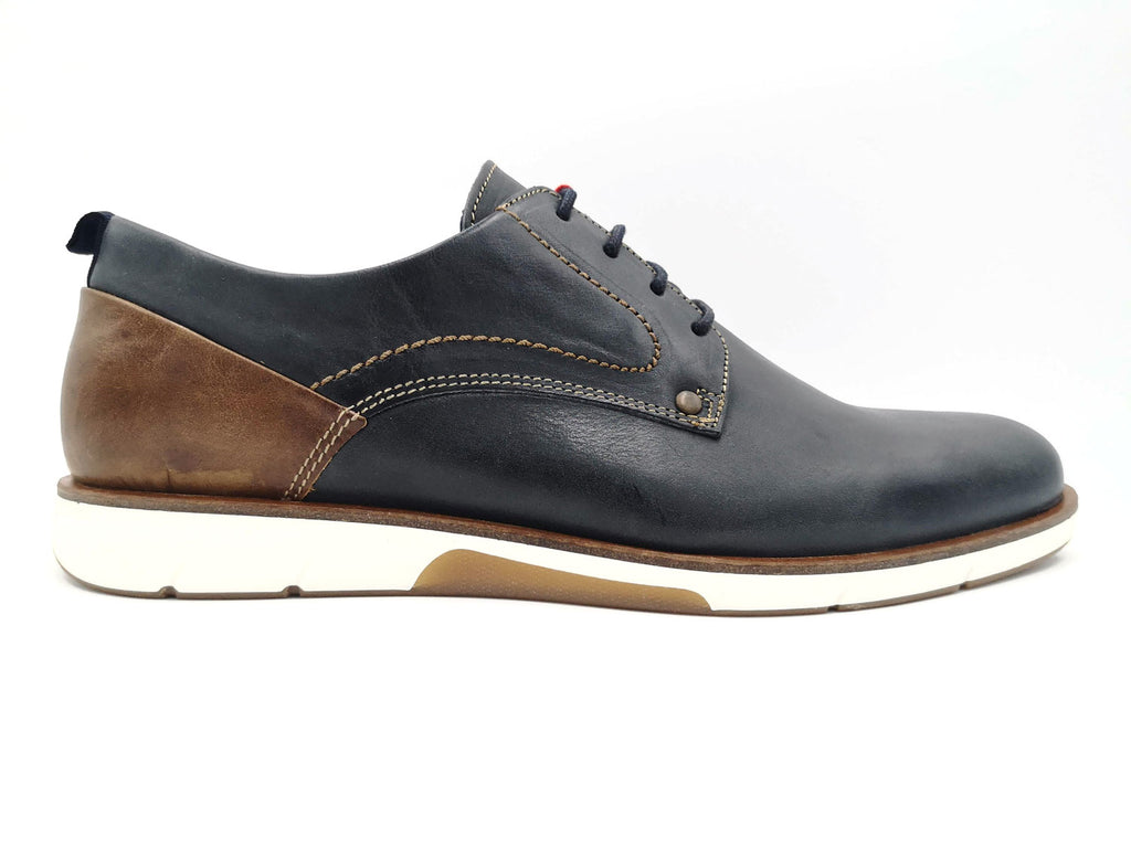 Navy Leather Morgan Casual Shoe