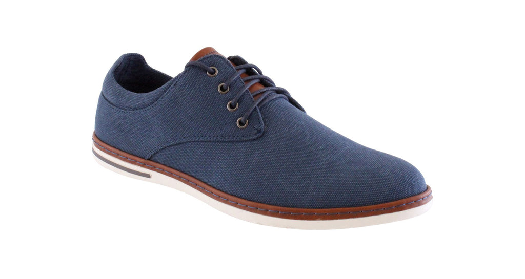Mens Casual Morgan Navy Canvas Shoe MGN1044