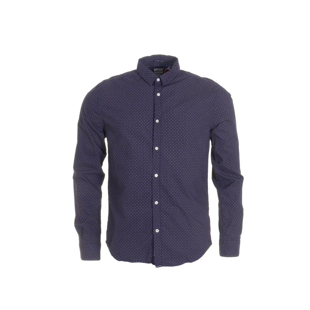 Modern Classic Navy Dot Shirt By Superdry