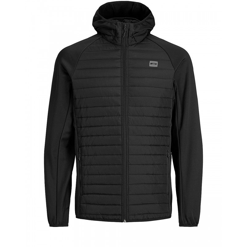 Jack Jones Multi Quilted Black Jacket