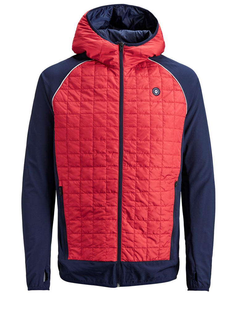 Chinese Red Multi Quilted Jacket