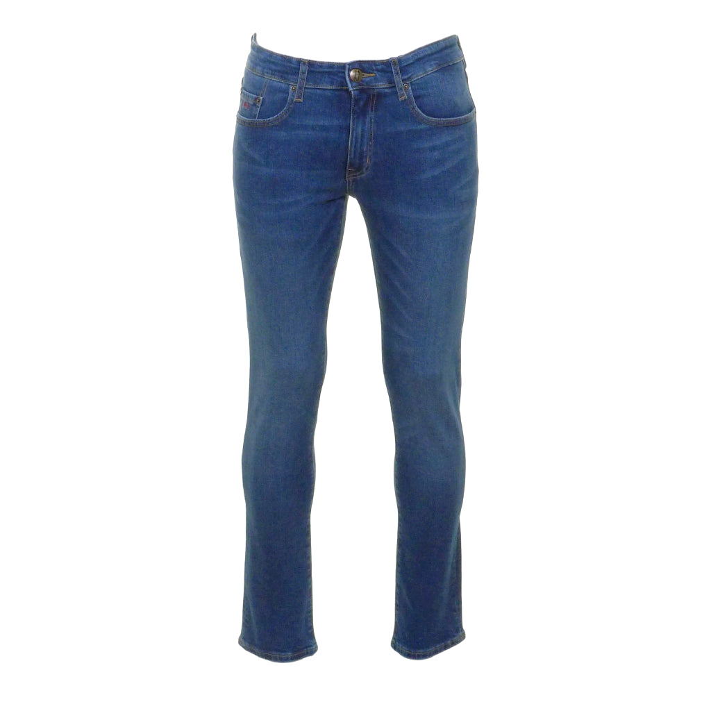 Nevada Mid Wash Stretch Jeans by 6th Sense - Front