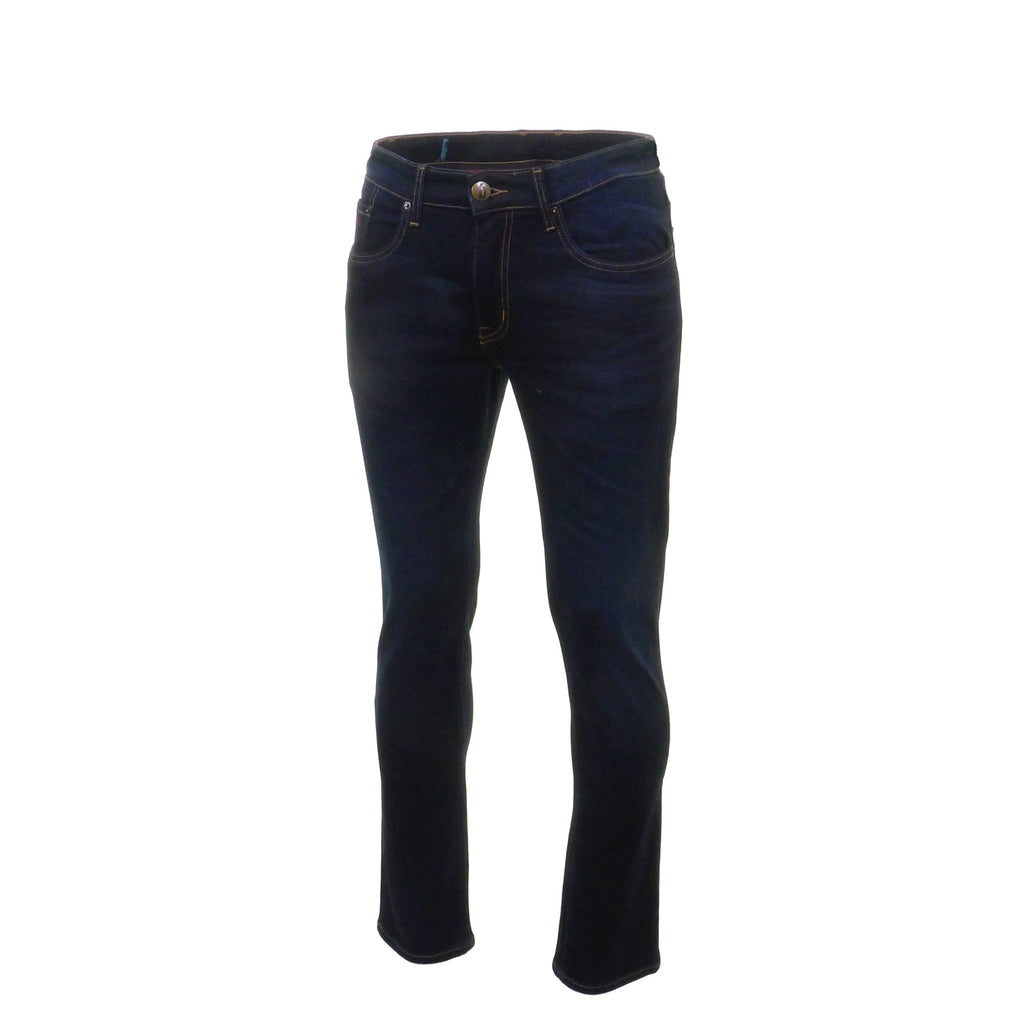 Nevada Blue Black Stretch Jeans by 6th Sense - Side