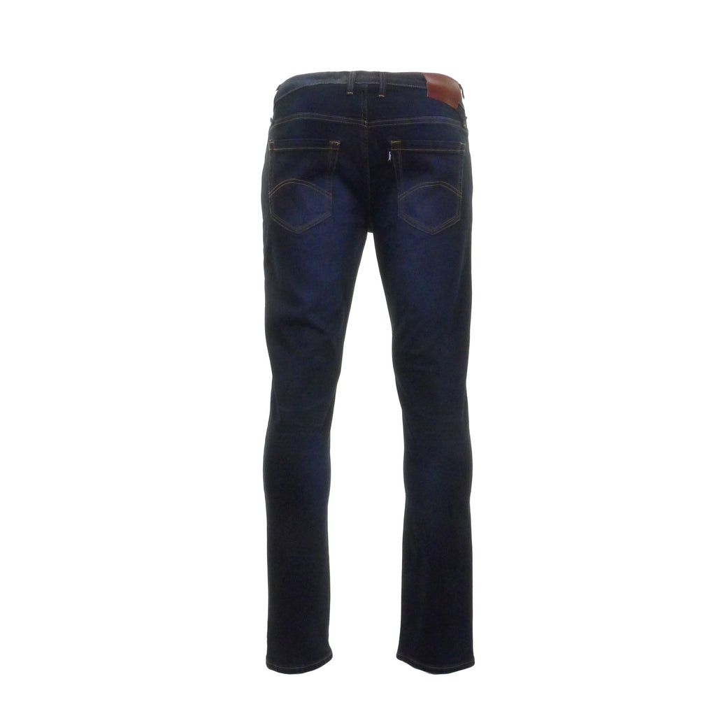 Nevada Blue Black Stretch Jeans by 6th Sense - Back