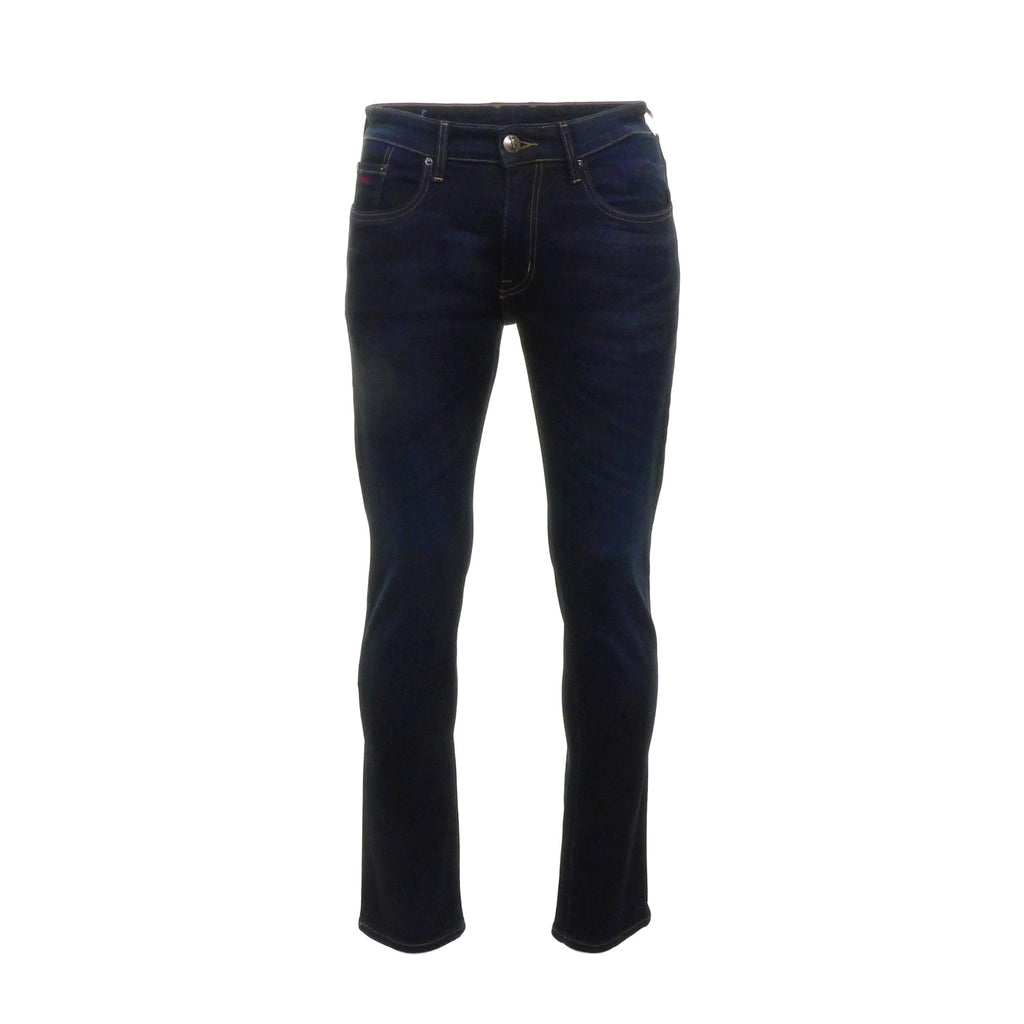 Nevada Blue Black Stretch Jeans by 6th Sense