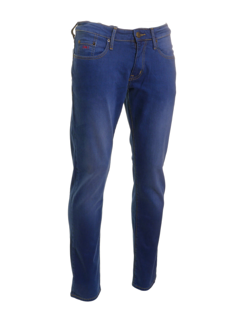 Nevada Straight Cut Jean Electric Blue By 6Th Sense