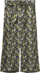 Floral Print Wide-leg Trousers yellow