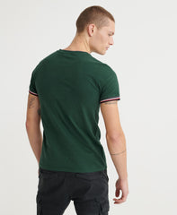 Orange Label Organic Cotton Green Ringer T-Shirt