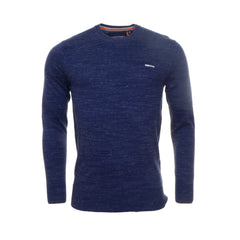 Orange Label Crew Riva Blue Grindle Knit by Superdry