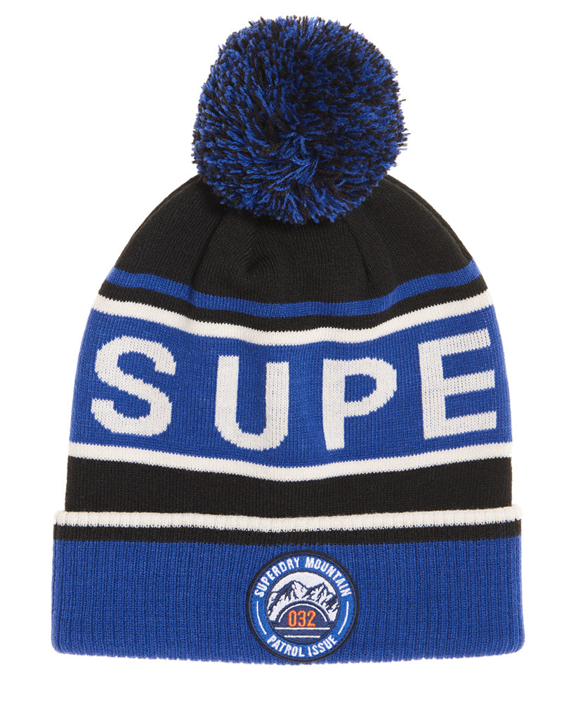 Oslo Racer Cobalt Off White Black Beanie by Superdry