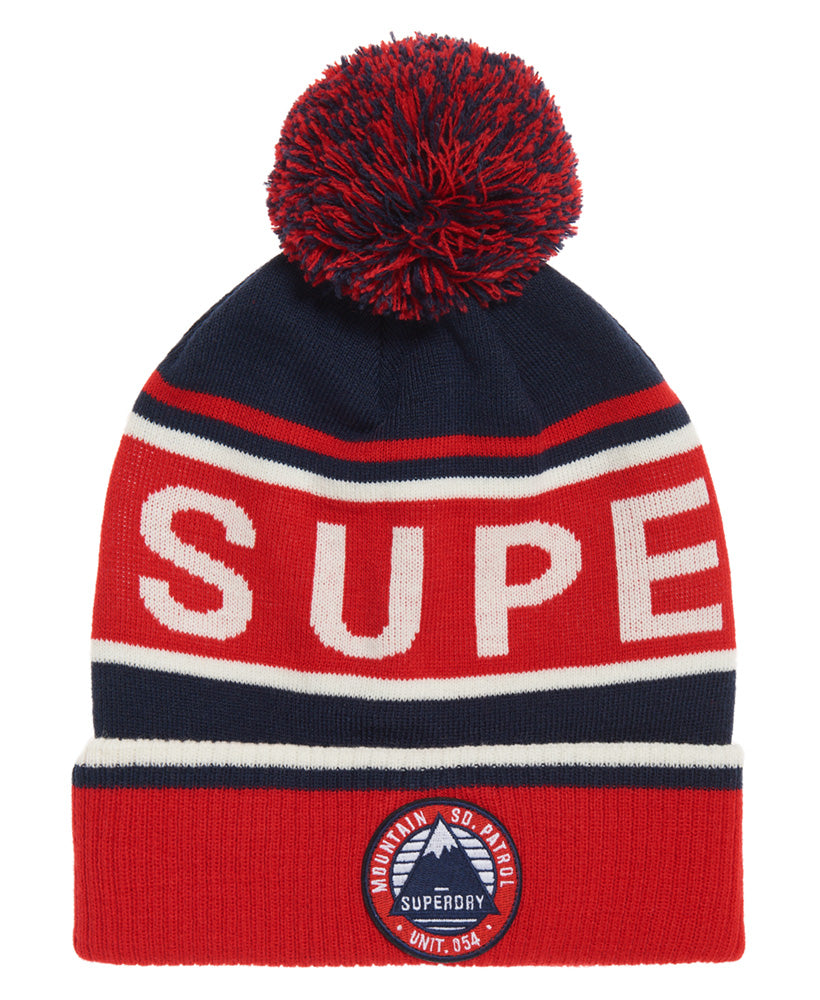 Oslo Racer Red Off White Navy Beanie by Superdry