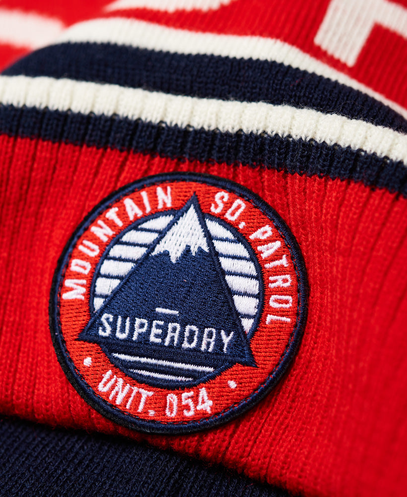 b44628fdc Oslo Racer Red Off White Navy Beanie by Superdry – Spirit Clothing