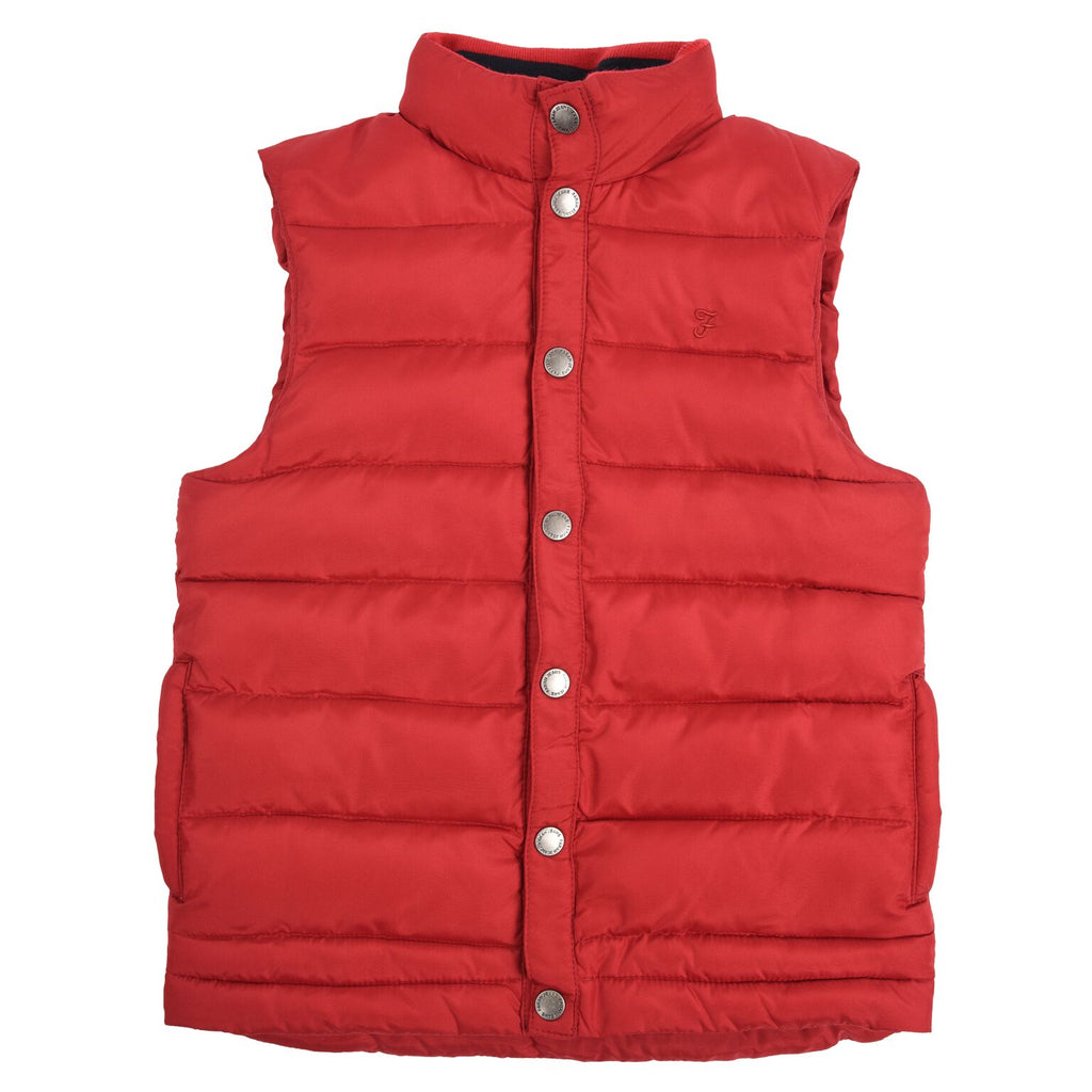 Farah Junior Red Puffer Gilet