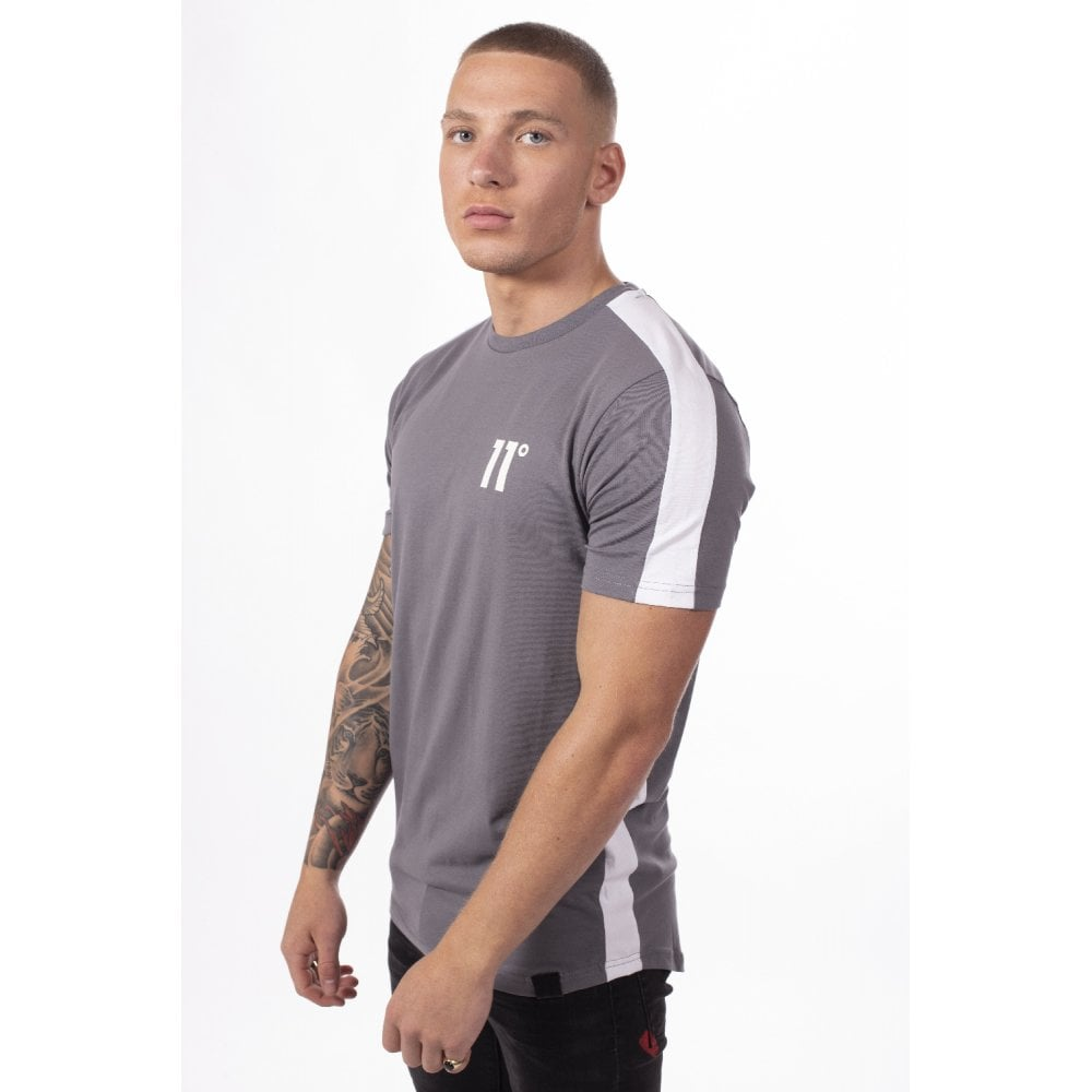 11 Degrees Panel T-Shirt Steel