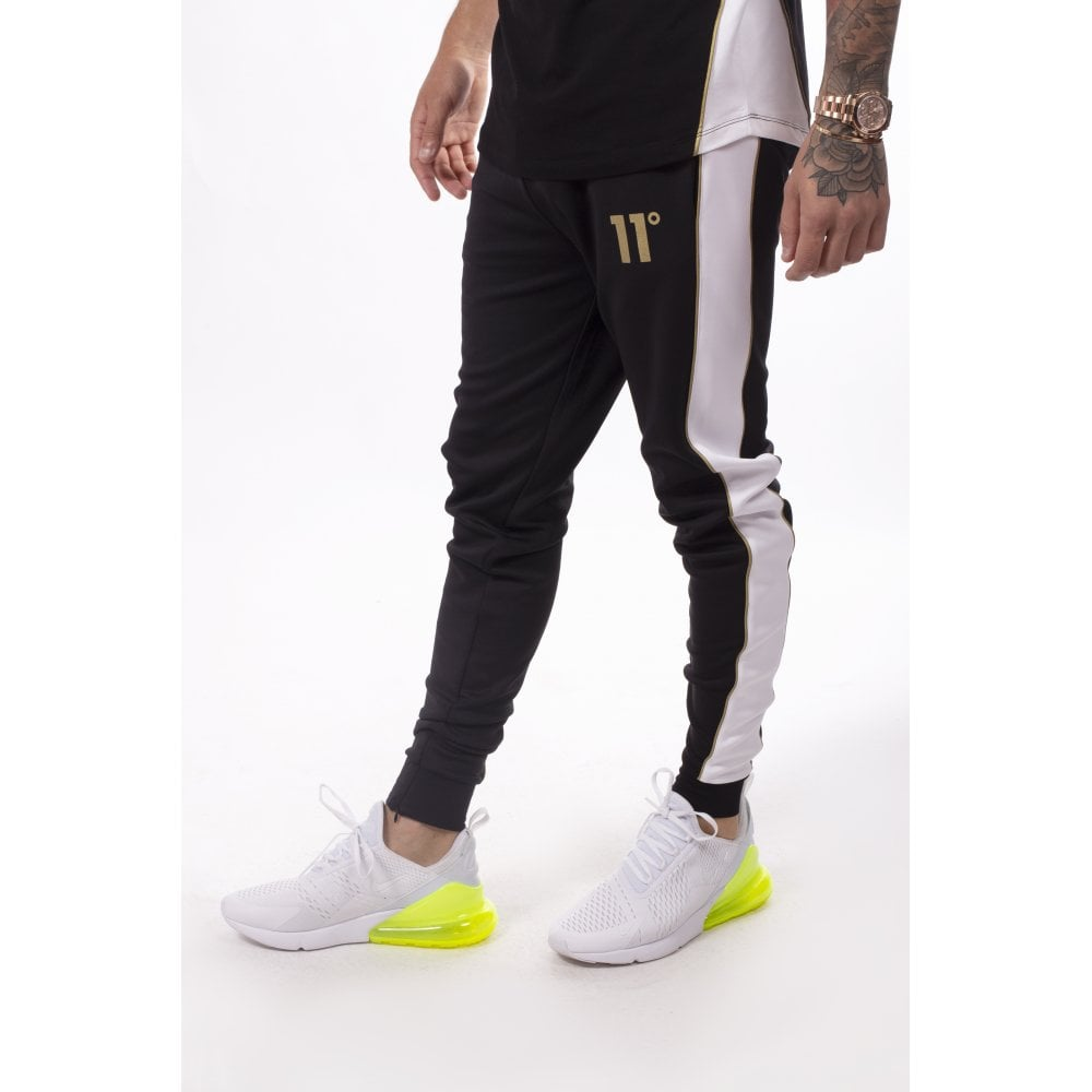 Panelled Poly Joggers by 11 Degrees