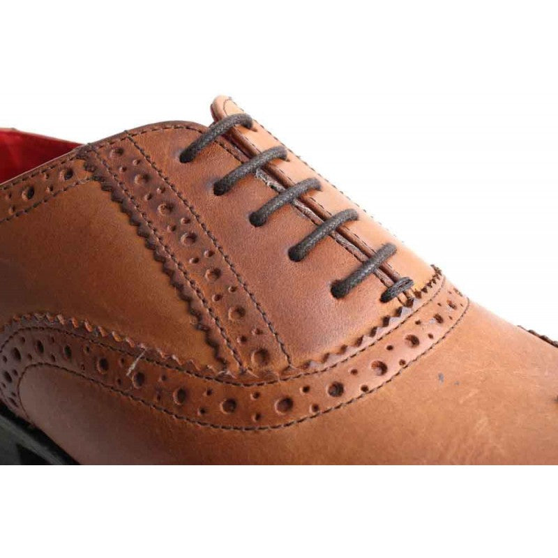Paprika Waxy Tan Shoe By Base London