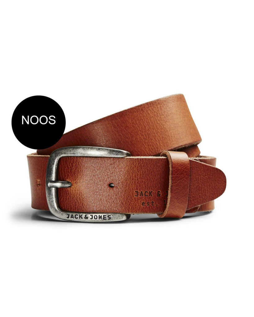 JACPaul Leather Mocha Bisque Belt