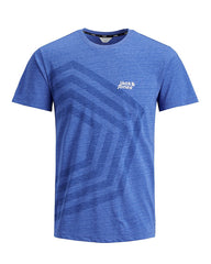 Pella Blue Short Sleeve Crew Neck Tee by Jack & Jones Core