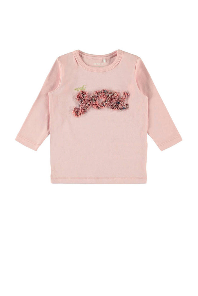 Flavia Long sleeve Newborn Pink Top