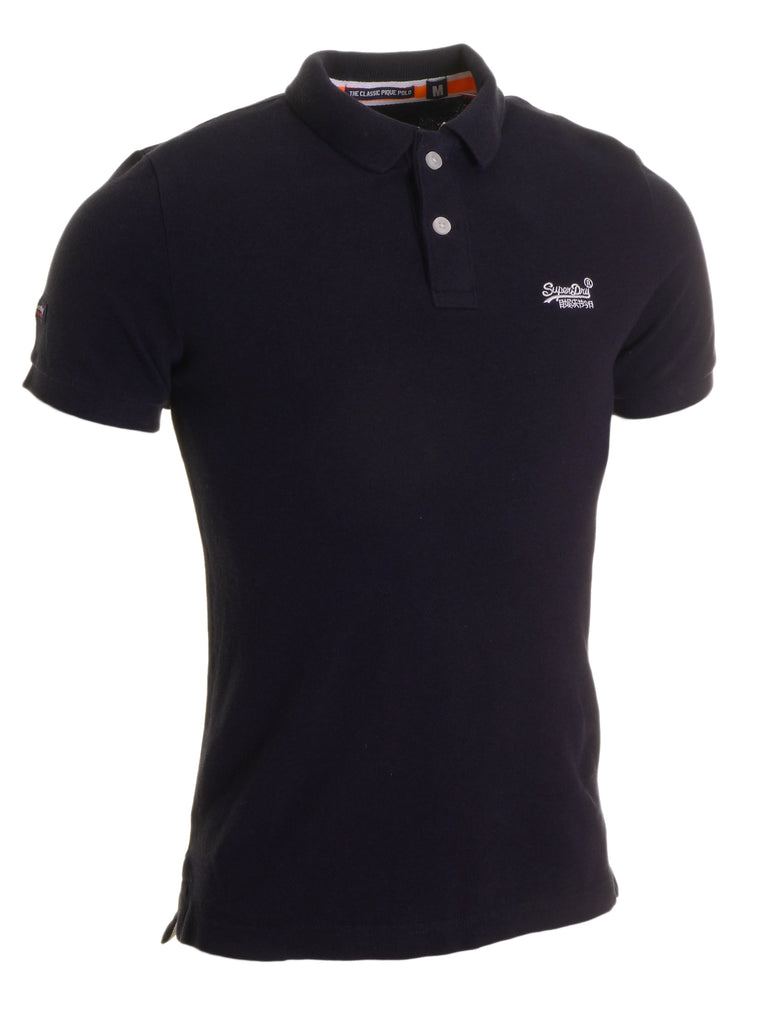 Classic Pique Navy Polo By Superdry