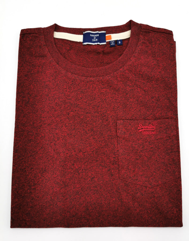 Pocket Tee Rich Red