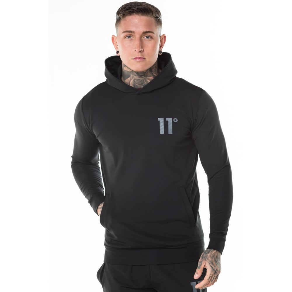 11 Degrees Black Poly Over the Head Hoodie