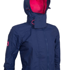 Arctic Pop Zip Hooded Navy Pink Windcheater By Superdry Womens