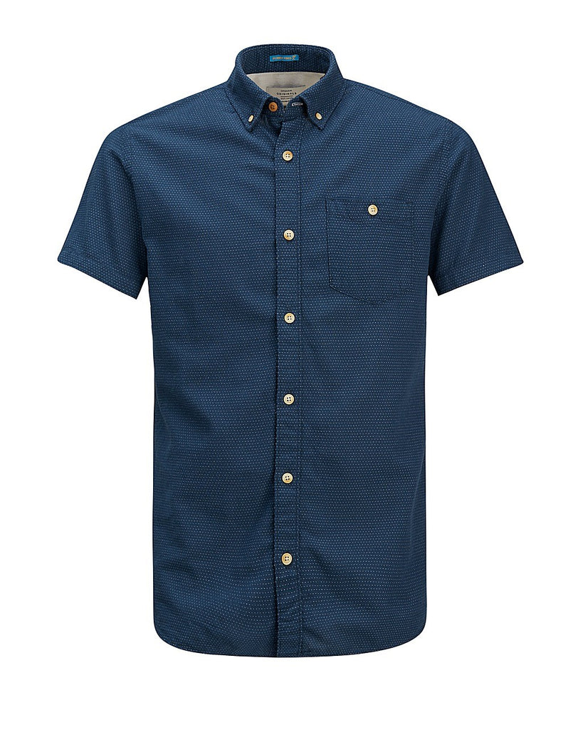 Portland Navy Short Sleeve Shirt By Jack & Jones Originals