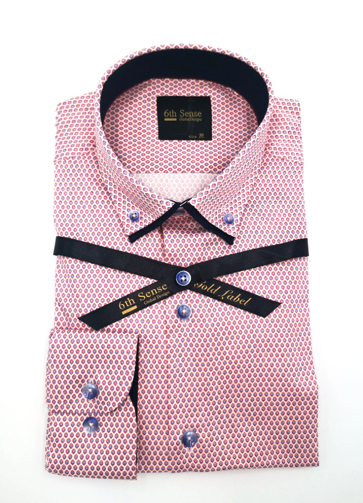 Double Collar 11 Print Shirt