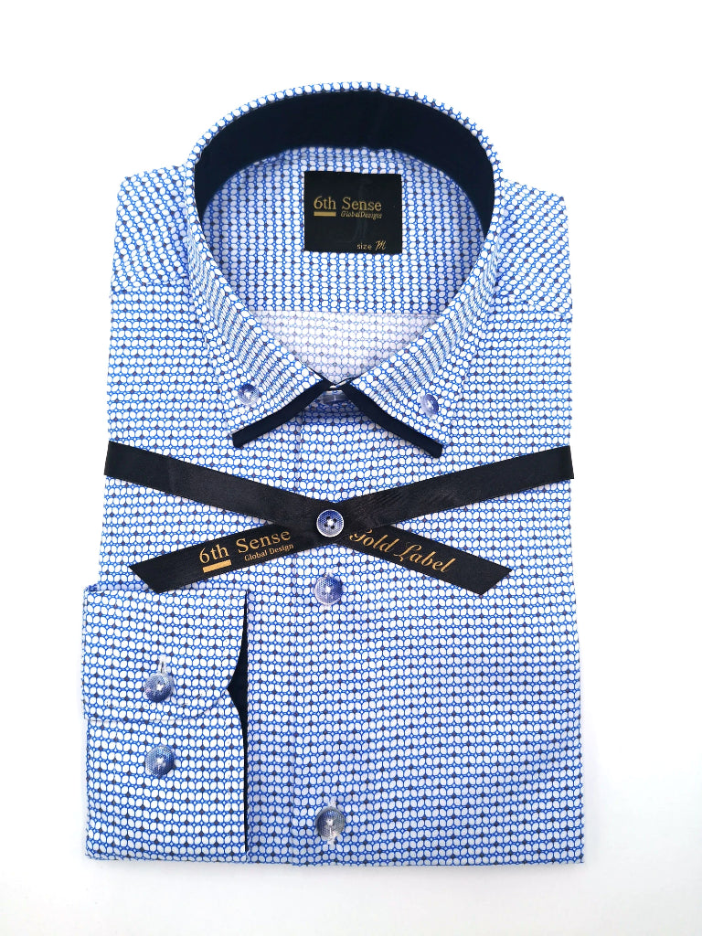 Double Collar 12 Print Shirt