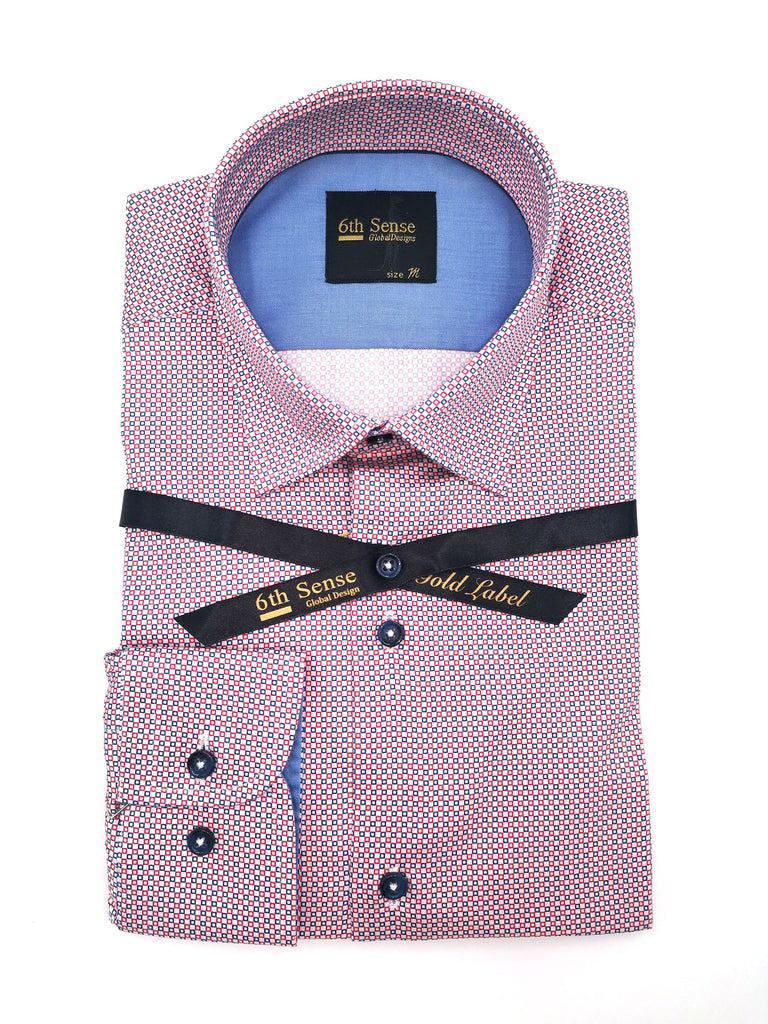 Double Collar 13 Print Shirt