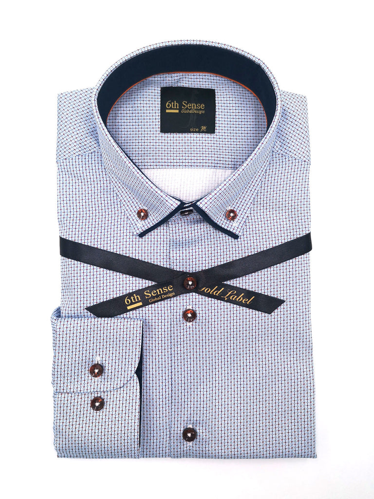 Double Collar 17 Print Shirt