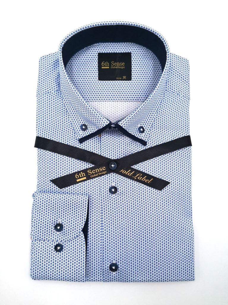 Double Collar 18 Print Shirt