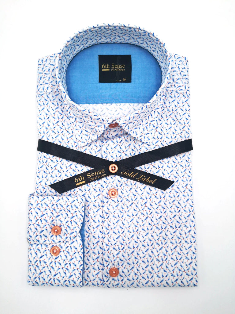 Single Collar-23 Print Shirt
